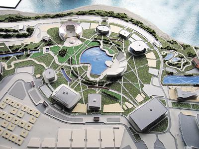 Центральная площадь будущей Олимпийской деревни 2014.